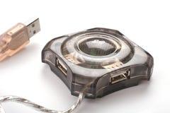 Mozzo a quattro fori del USB Fotografia Stock