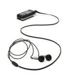 MP3 φορέας και ακουστικά Στοκ Φωτογραφίες