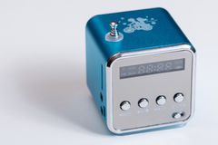 Mp3收音机球员箱子蓝色天线 图库摄影