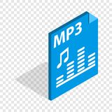 MP3 file format isometric icon Stock Photos