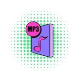 MP3 file icon in comics style Stock Photo