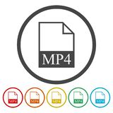 MP4 file icon. Vector icon royalty free illustration