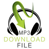 MP3 het Pictogram van de muziekdownload Stock Fotografie