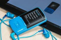 MP4 Media Player eingeschlossen mit Philips Lizenzfreies Stockbild