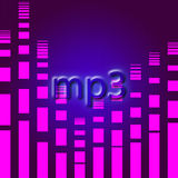 Mp3 music background Stock Photo