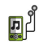 Mp3 music player icon Stock Photography