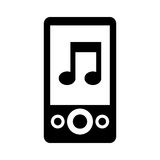 Mp3 music player icon Royalty Free Stock Photos