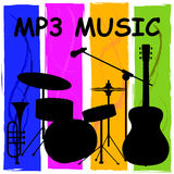 Mp3 Music Showing Melody Listening And Sound Track. Mp3 Music Shows Melody Listening And Sound Track Royalty Free Stock Photos