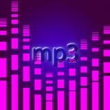 Mp3 muziekachtergrond Stock Foto