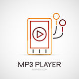 Mp3 player company logo, business concept Stock Image