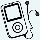 MP3 player with earphones Stock Photography