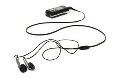 MP3 player and earphones Stock Image