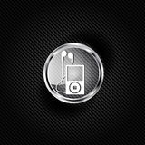 Mp3 player icon. Music player symbol Royalty Free Stock Images