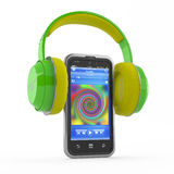 Mp3 player, music, smartphone concept Stock Images