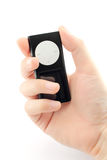 Mp4 player similar to the ipod. Hand with a mp4 player, similar to ipod Royalty Free Stock Photo