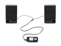 MP3-Player und Lautsprecher Lizenzfreie Stockfotos
