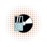 Mp3 player vinyl record comics Royalty Free Stock Photo