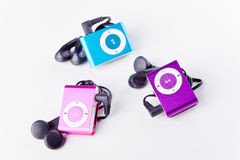 Mp3 players Royalty Free Stock Photos