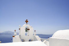 Orthodox church in Santorini Royalty Free Stock Photos