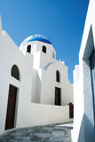 Orthodox church at Santorini Stock Photography