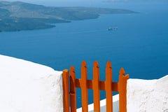 wooden door at Santorini Royalty Free Stock Photography