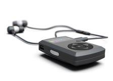 MP3 spelerclose-up op witte achtergrond 3d geef image stock illustratie