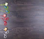 MP3 spelers met oortelefoons royalty-vrije stock fotografie