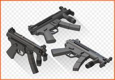 Mp5 submachine gun isometric Royalty Free Stock Image