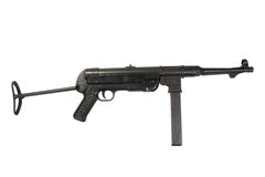 MP40 submachine gun. On white background Stock Images