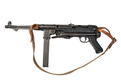 MP38/40 submachine pistolet na białym tle Obraz Stock