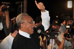 MP Suthep Thaugsuban Speaks at Anti-Amnesty Bill P Royalty Free Stock Photo