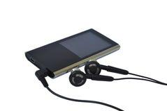 MP3播放器和耳机 免版税图库摄影