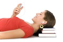 MP3播放器学员 免版税图库摄影