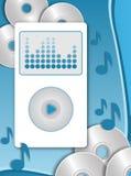 MP3播放器 皇族释放例证