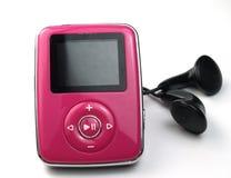 mp3 ροζ Στοκ Φωτογραφία