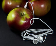 MP3 apple Stock Photo