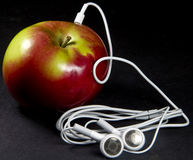 MP3 apple stock images