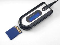 Mp3 card reader. And memory Royalty Free Stock Images