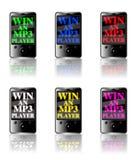 MP3 de concurrentie wint Stock Afbeelding