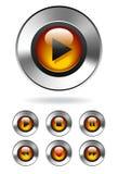 MP3 de Knopen van Media Player royalty-vrije illustratie
