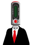 Mp3 device man Stock Photo