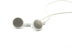 MP3 Earbuds Royalty Free Stock Images