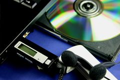 MP3 het downloaden stock afbeeldingen