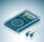 MP3 / MP4 Multimedia Player. Is a part of the Isometric 3D Computer Hardware Icons Set Royalty Free Stock Image