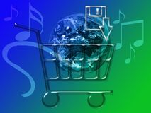MP3 Music - Music Sales. MP3 Music Downloads - Internet Music Sales royalty free illustration