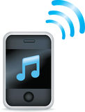 Mp3 phone. Vector illustration of a mp3 mobile phone Stock Photo