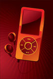 Mp3 player. Illustration. portable device Royalty Free Stock Photography