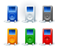 Mp3 player. Modern electronical device for listening music Royalty Free Stock Photos