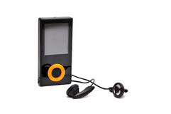 Mp3 player. Black on a white background Royalty Free Stock Image