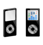MP3 player. Abstraction of two MP3 player on a white background for various necessities Royalty Free Stock Photo